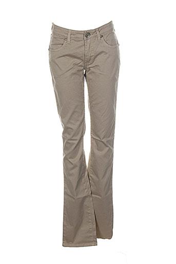 save the queen pantalons femme de couleur beige