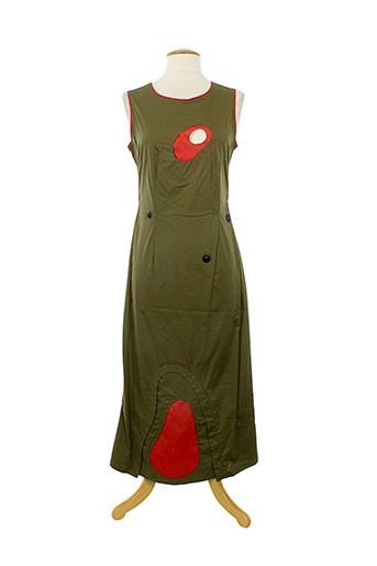 1 et certain et regard robes et longues femme de couleur vert (photo)