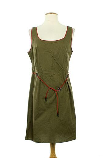 1 et certain et regard robes et mi et longues femme de couleur vert (photo)