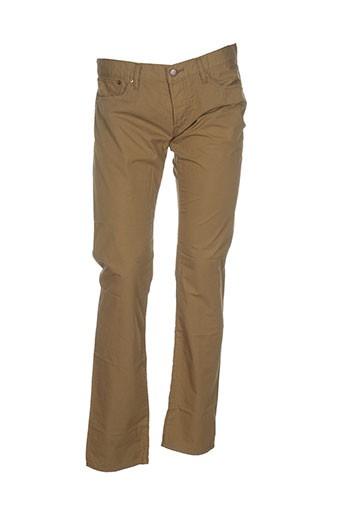 maison kitusné pantalons homme de couleur marron