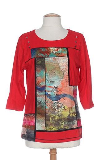 bagoraz t-shirts / tops femme de couleur rouge