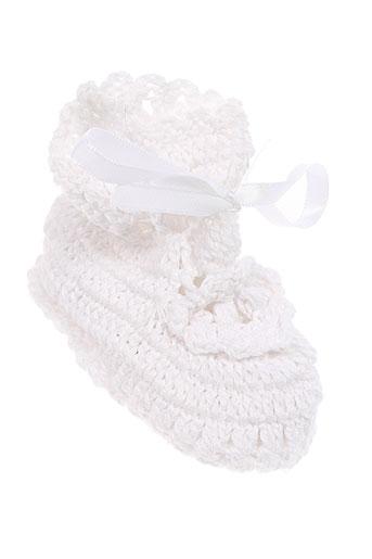 absorba chaussons enfant de couleur blanc