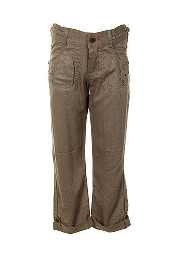 absorba pantalons et decontractes fille de couleur beige