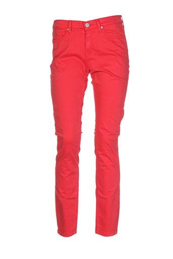 blu et erin pantalons et decontractes femme de couleur rouge