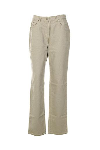 ernest le gamin pantalons femme de couleur beige