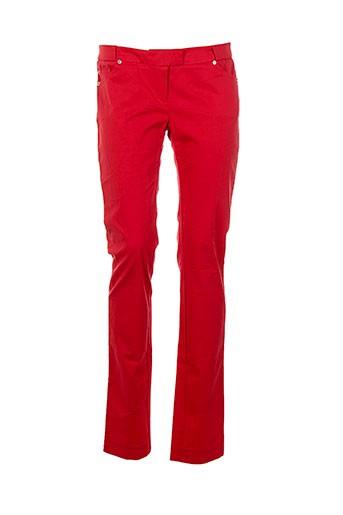 mademoiselle sarong pantalons femme de couleur rouge