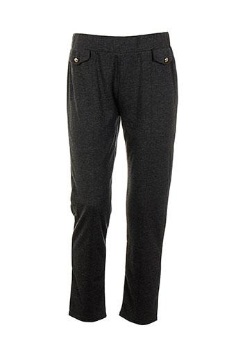 danny pantalons femme de couleur gris