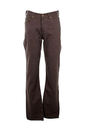 c.seventeen pantalons homme de couleur marron