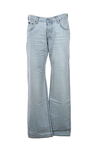 c.seventeen pantalons homme de couleur bleu