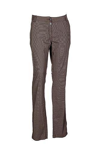 timezone pantalons et decontractes femme de couleur marron