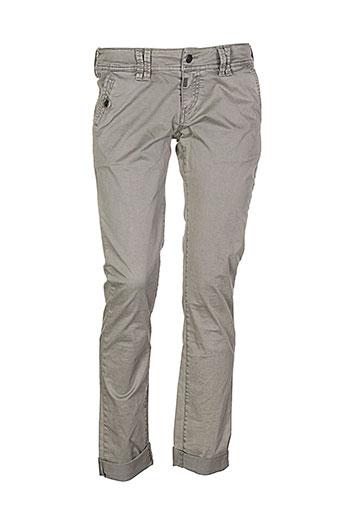 timezone pantalons et decontractes femme de couleur gris