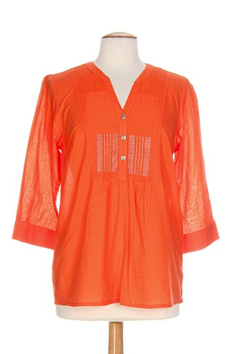 jensen chemises femme de couleur orange