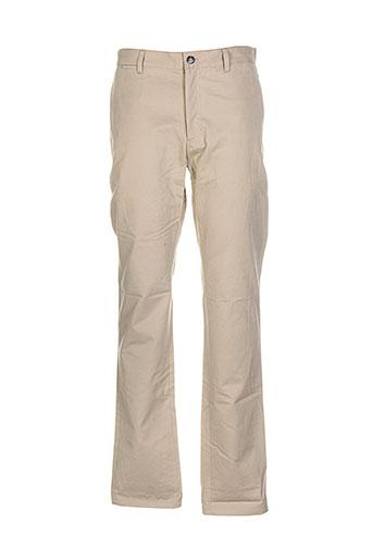 a et p et c pantalons et decontractes homme de couleur beige