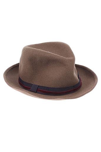 forte et forte chapeaux et bonnets femme de couleur marron
