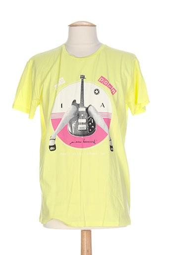 manu hancok t-shirts homme de couleur jaune