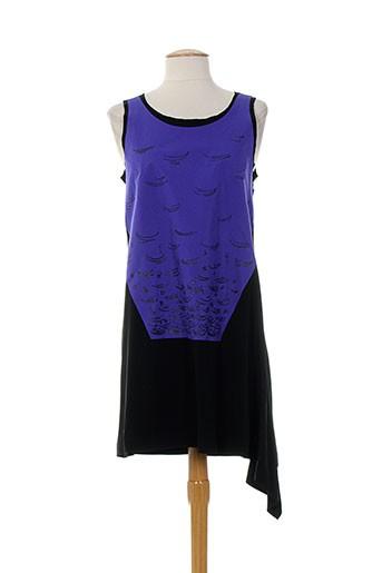 Robe mi-longue violet ALMALIBRE pour femme