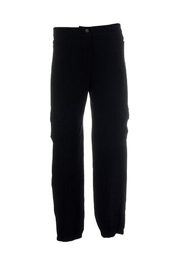 atika pantalons femme de couleur noir