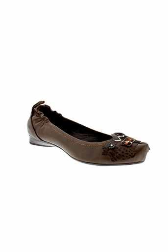 sans interdit chaussures femme de couleur marron