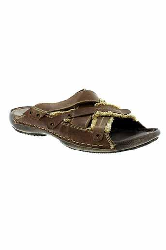 hipness sandales et nu et pieds homme de couleur marron