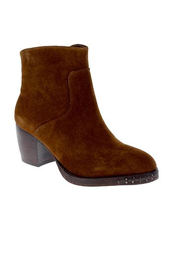 yaya boots femme de couleur marron