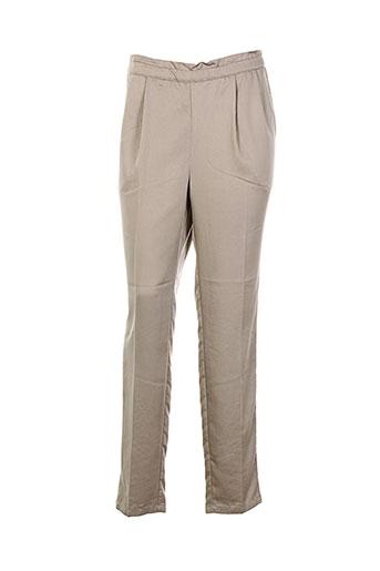 an' ge pantalons femme de couleur beige