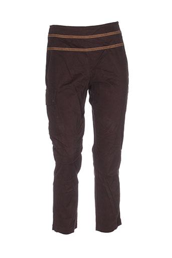 rosa rosam pantalons femme de couleur marron