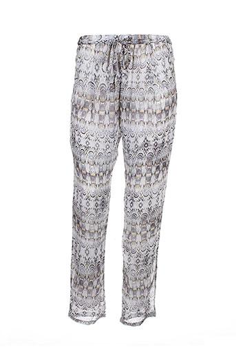 messcalino pantalons femme de couleur gris