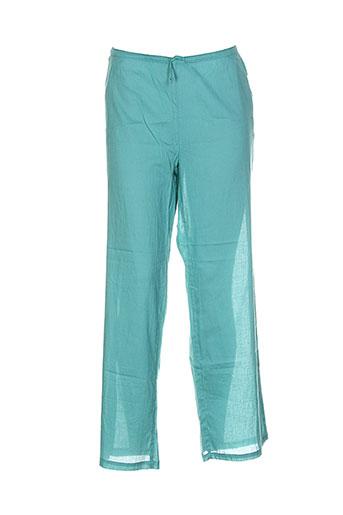la et fiancee et du et mekong pantalons et decontractes femme de couleur vert