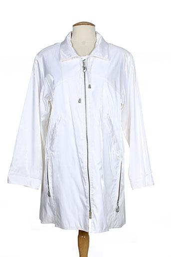 claude havrey manteaux femme de couleur blanc