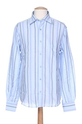 bruno saint hilaire chemises homme de couleur bleu