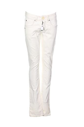 high pantalons femme de couleur blanc