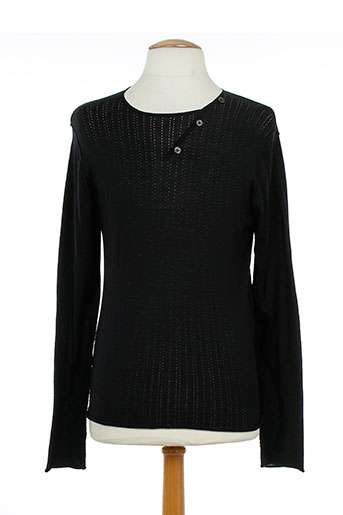 Pull col rond noir U-NI-TY pour homme