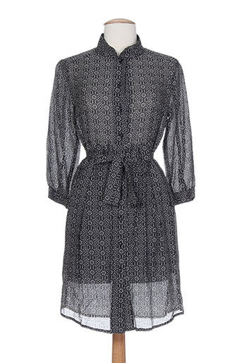 Robe mi-longue noir DEVASTEE pour femme