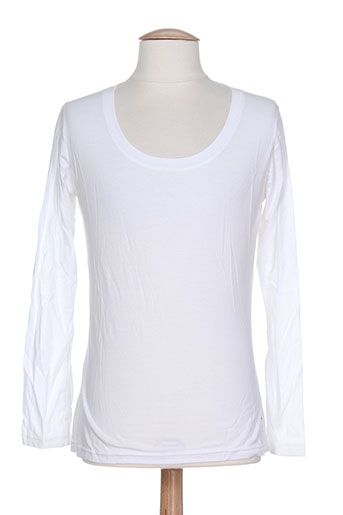 denim gallery biarritz t-shirts femme de couleur blanc