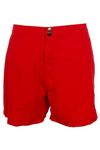 sun project maillots de bain homme de couleur rouge