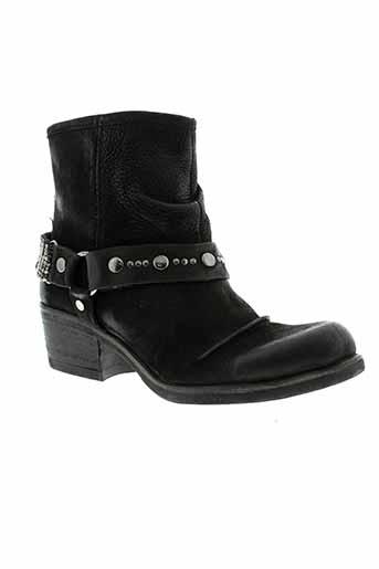 metamorf et ose bottines femme de couleur noir