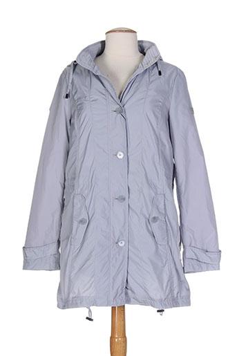 bianca manteaux femme de couleur gris