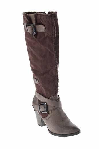 tamaris bottes femme de couleur marron