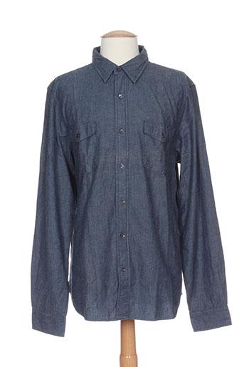closed chemises homme de couleur bleu