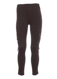 Pantalon casual marron CREATIVE BY pour femme