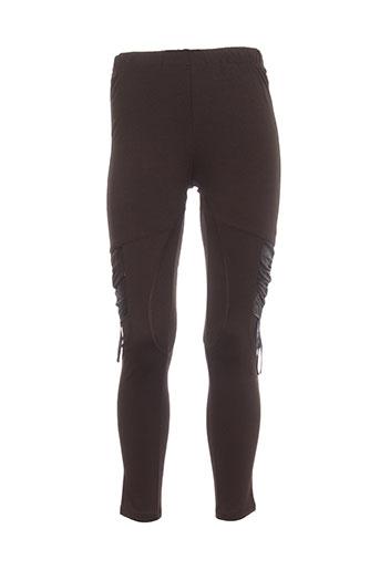 creative by pantalons femme de couleur marron