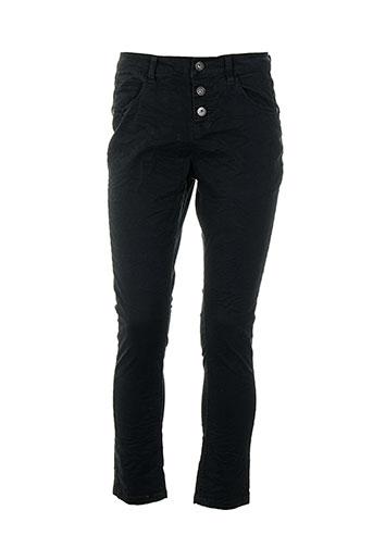 school rag pantalons femme de couleur noir