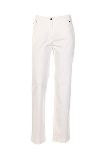 o.k.s pantalons femme de couleur blanc