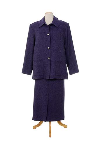 Veste/jupe violet CHARLES LORENS pour femme