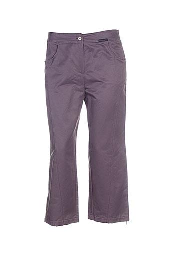 chrismas's pantacourts femme de couleur violet