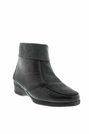 fluxa boots femme de couleur noir