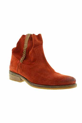 minka et design boots femme de couleur orange