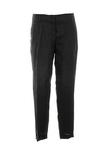 maxmara pantalons femme de couleur noir