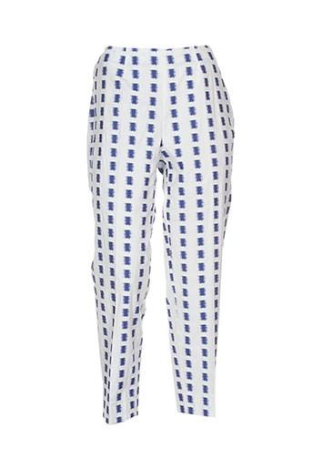 piazza sempione pantalons femme de couleur bleu