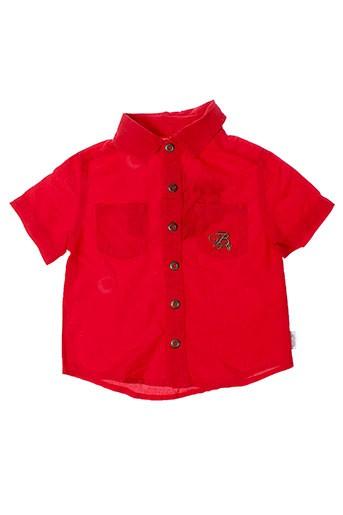 berlingot chemises garçon de couleur rouge